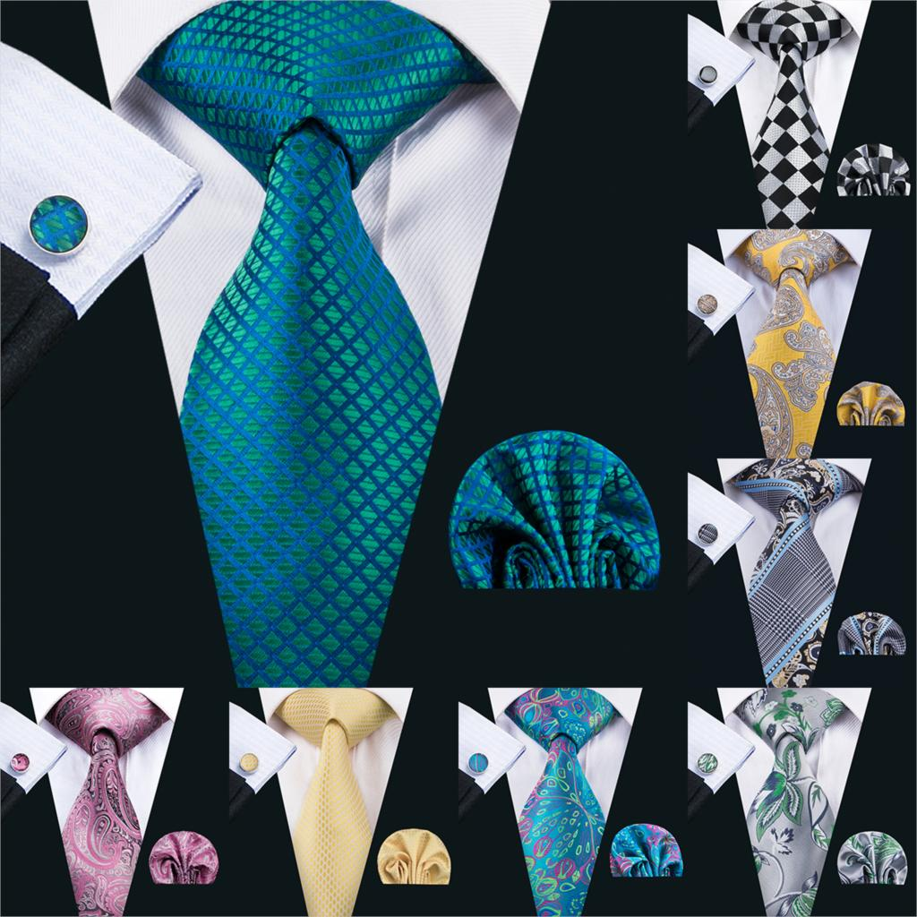 Men Tie Paisley 100% Silk Necktie Gravata Neckwear Barry.Wang Fashion Set Ties For Men Formal Wedding Party Business US-1610