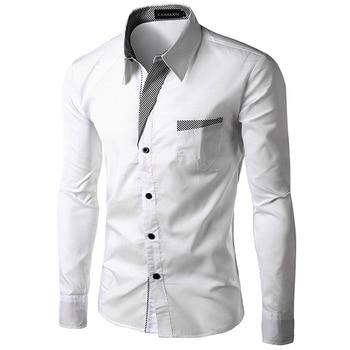 TUNEVUSE Mens Long Sleeve Dress Shirt