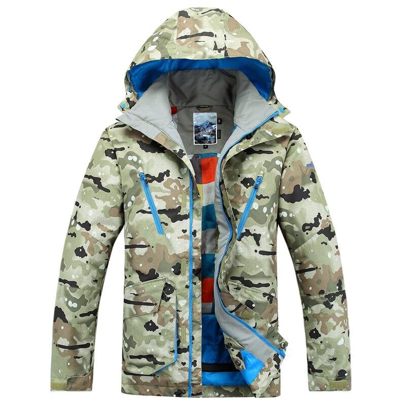 2017 hommes vestes de ski Gsou neige Camouflage manteau de ski anorak haute qualité snowboard veste pour hommes super imperméable thermique