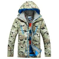 Mens ski jackets Gsou snow Camouflage ski coat anorak high quality snowboarding jacket for men super waterproof thermal