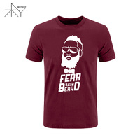 Man T Shirts Quality Designer Harden Fear The Beard Summer T Shirts Casual Tshirts Novelty Custom