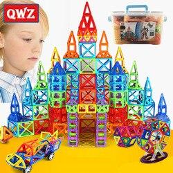 QWZ 110-252 шт. Мини Магнитный конструктор Construction Set модель и строительство игрушки магнитных блоков развивающие игрушки для детей подарки