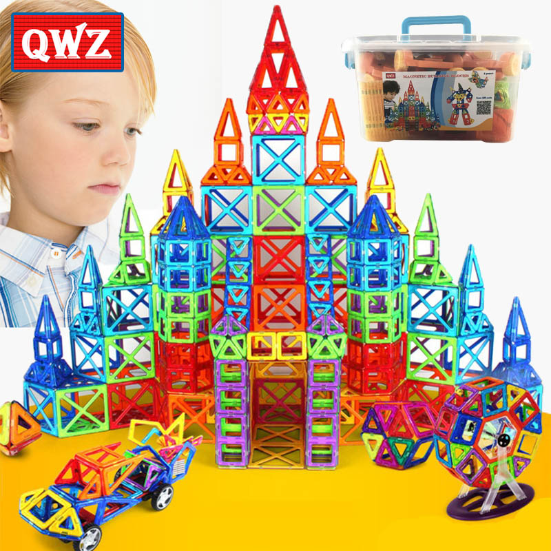 QWZ 110-252pcs Mini Magnetic Designer Construction Set Model & Building Toy Magnetic Blocks Educational Toys For Children Gifts