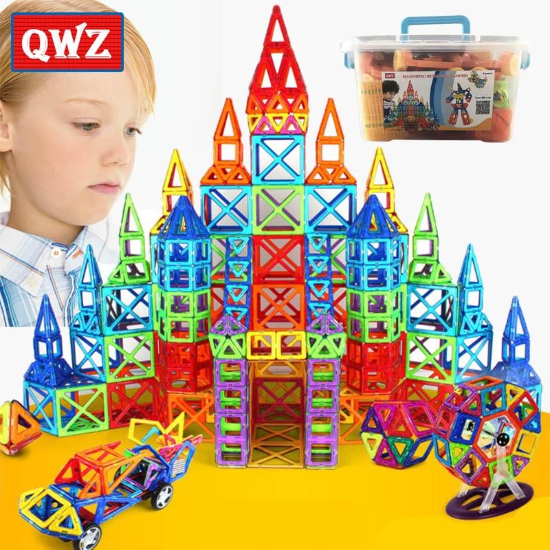 Qwz 110-252 unids mini magnético diseñador de construcción modelo y edificio de juguete magnético Blocs educativos Juguetes para niños regalos