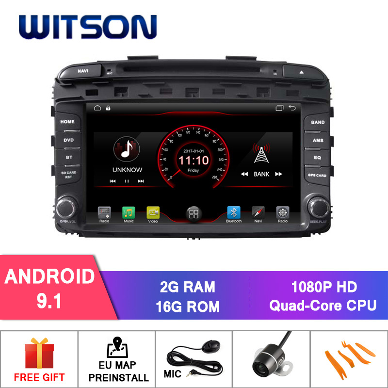 WITSON Android 9 1 ANDROID CAR DVD PLAYER FOR KIA SORENTO 2015 CAR DVD MIRROR LINK