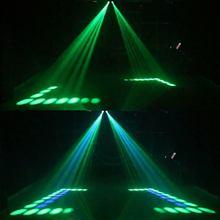 Vendita calda Portatile di Musica Auto/Suono Actived 128 LED RGBW Luci Doppia Testa Laser di Effetto di Fase di Illuminazione Club Disco DJ Party Bar