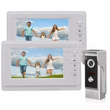 DIYSECUR 7 inch TFT Color LCD Display Video Door Phone Video Intercom Doorbell 700TVLine HD IR Night Vision Camera 1V2