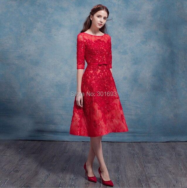Lace Tea Length Cocktail Dresses