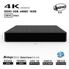 Beelink Mini M8S PRO Caixa de TV Android 7.1 Octa Núcleo 2 GB 16 GB S912 Amlogic TV Set Top Box 4 K 5G/2.4G Wifi BT4.0 Smart Media jogador