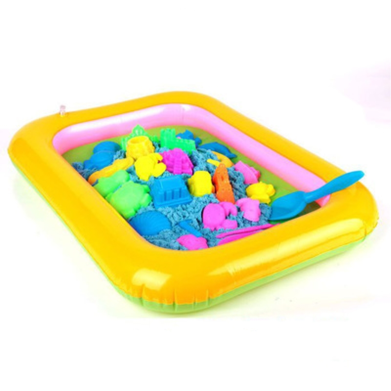 60x45cm Inflatable Sand Tray Dynamic Amazing No-mess Indoor Magic Play Sand Children Toy Mars Space Accessories Multi-function