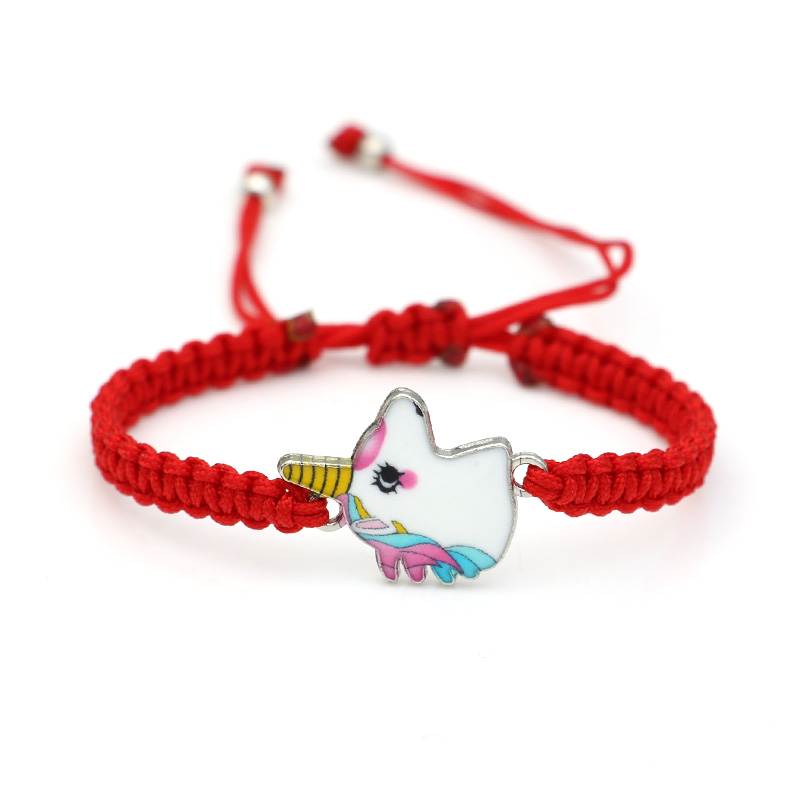 Amiable Jakongo Enamel Unicorn Charm Bracelet Braided Red Rope Bracelet For Women Men Adjustable Handmade Bracelet Catalogues Will Be Sent Upon Request