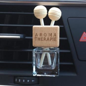 Car Perfume Bottle Air freshener Doration Clean Empty Glass Bottle Outlet Vent Wooden Diffuser Car Auto Interior Accessories glass bottle