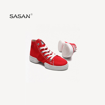 SASAN High-End Sprinkle Men And Women Canvas Dance Shoes Square Soft Bottom Jazz Shoes Spring And Summer Modern Dance Shoes 8868
