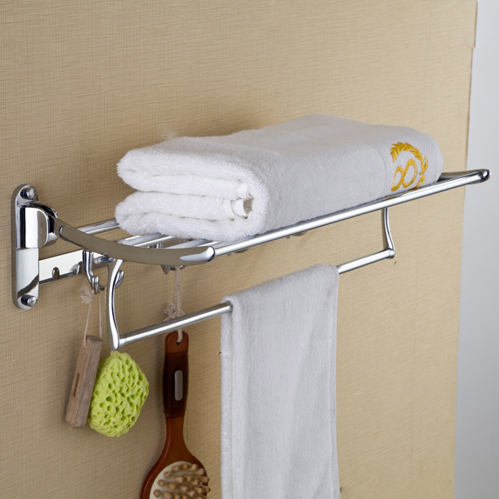 2015 New Luxury Bathroom Hooks Brass Wall Mounted Clothes Towel Racks Top  Grade Bathroom Shelf Hooks In Bathroom Shelves From Home Improvement On ...