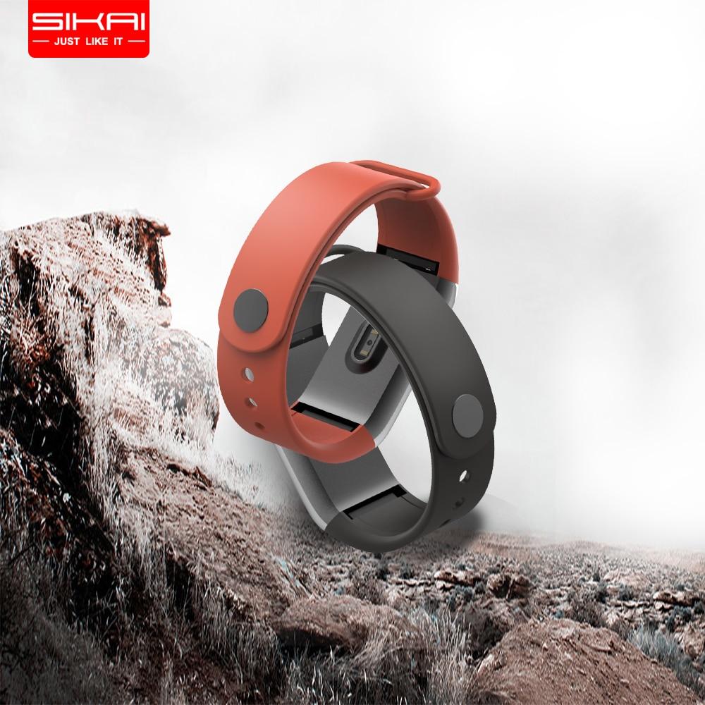 SIKAI Silikon Uhr Band Für Huami Amazfit Cor Ersatz Comfy Bunte Armband Armband Für Amazfit Cor Für Huami Uhr