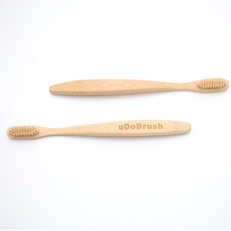 2Pcs/Set Big Large Handle Soft Bristle Environmentally Eco Friendly Travel Home Hotel Adult Manual Bamboo Tooth Brush Toothbrush image