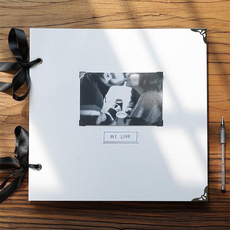 , Die Alte Innenseiten Diy Inset Fotoalbum Familie Album Kreative Buch Memoiren Foto Alben Für Handwerk Liebhaber Hochzeit