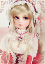 Resin doll BJD SD doll doll Kid Delf Girl YUZ 1 4 naked baby girl doll
