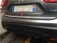 ABS Chrome Rear Door Gate Trunk Streamer Cover Trim for Nissan Qashqai 2014 2016