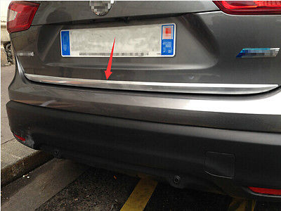 Garniture de couverture de Streamer de coffre de porte arrière de Chrome d'abs pour Nissan Qashqai 2014-2016