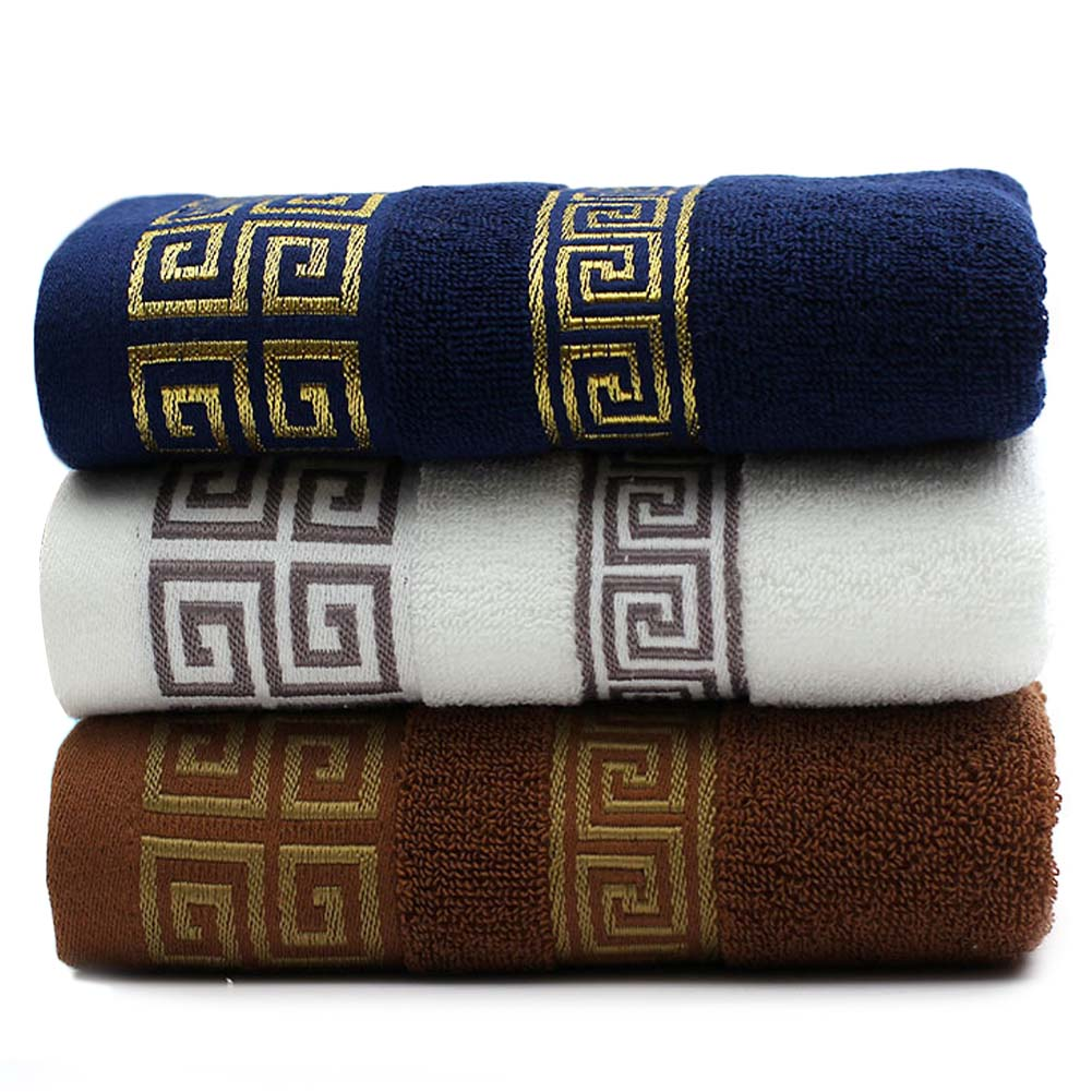 Embroidered Terry Cloth Hand Towels: Decorative Cotton Terry Bathroom Hand Towels Elegant