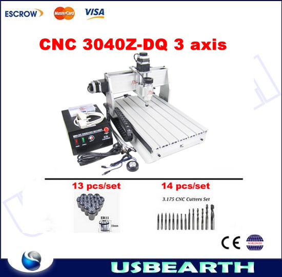CNC 3040Z-DQ Engraving Machine, mini CNC router with Ball Screw and Tool Auto-checking Instrument cnc 3040z dq 3 aixs with ball screw engraving machine