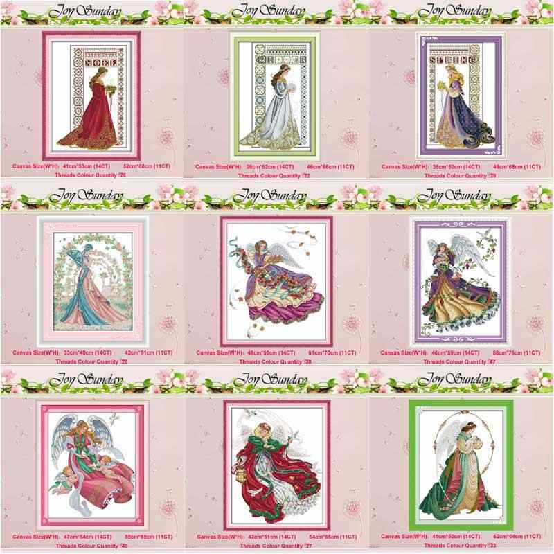 Bride Winter Angel girl RAVEN-QUEEN 11CT 14CT Cross Stitch Set DIY DMC Chinese Cross-stitch Kit Embroidery Needlework Home Decor