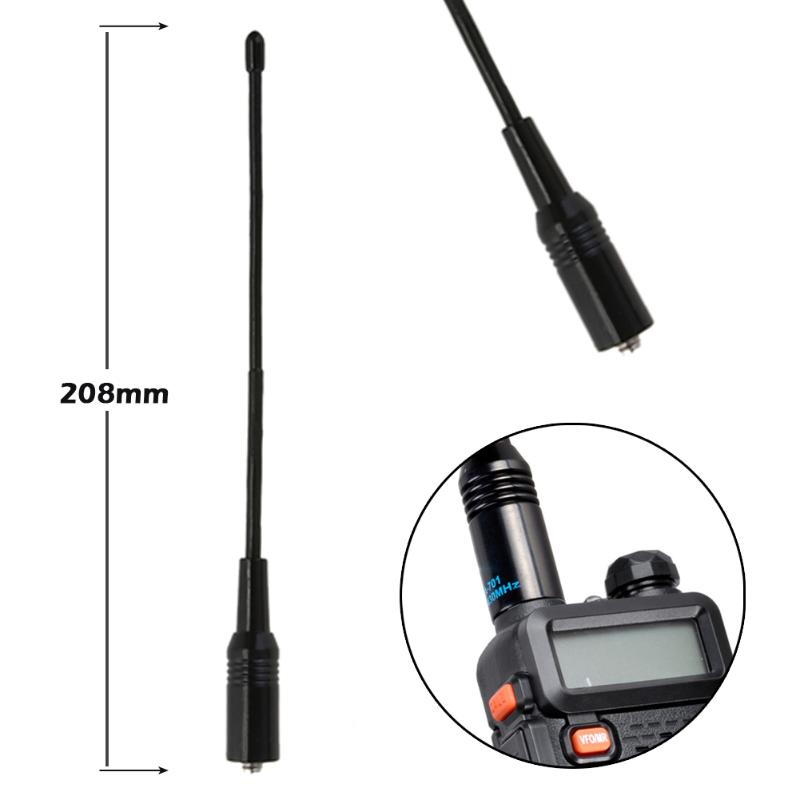 Portable NA-701 144/430MHz Dual Band SMA-F Antenna For Baofeng KG UV-5R Handheld Radio Accessary