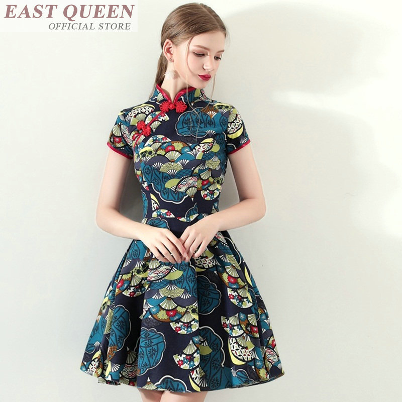 Aodai cheongsam dress chinese folk dance qipao china traditional chinses clothing for women floral print ao dai dresses FF598 A