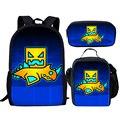Школьные сумки с геометрическим принтом для девочек  Детский рюкзак  детский школьный комплект  детская школьная сумка для студентов