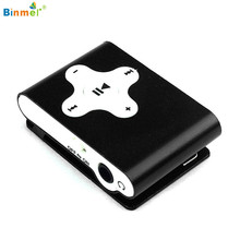 Binmer Superior Quality Fasion Music Media Mini Clip Metal USB MP3 Player Support Micro SD TF Card J21X