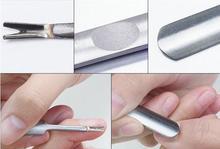 Moda Hot martwy naskórek Pusher trymer skórek widelec kalus przyrząd do usuwania naskórka Manicure Pedicure do paznokci ze stali nierdzewnej narzędzie artystyczne piękno tanie tanio Pusher skórek AmbleSky Stainless Steel