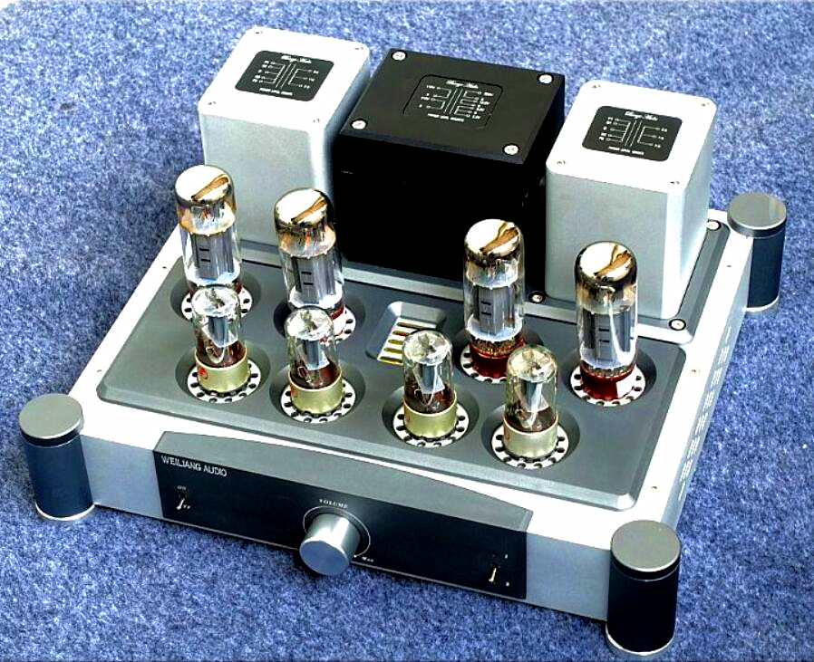 Douk Audio Class A Hi-Fi Power Valve Amplifier EL34 Vacuum Tube Push-Pull Integrated Amplifier 40W*2