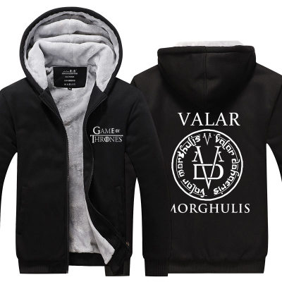 Stark house valar dorghulis hoodies WNTER IS COMING Game of throne hoody costume Wolf Dragon jacket winter fleece coat CM392
