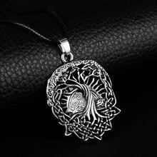 HEYu arbre de vie Yggdrasil collier nordique Vikings Runes amulette étain pendentif collier Talisman femmes hommes noël cadeau de fête