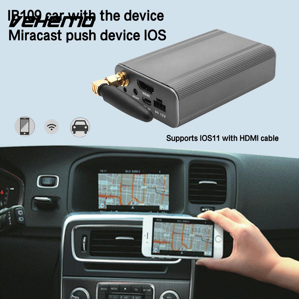 Vehemo with HDMI Cable Phone Mirror Link Miracast Push Device Smart WIFI Car Screen Mirror Display Screen Mirroring Box new car wi fi mirrorlink box for ios10 iphone android miracast airplay screen mirroring dlna cvbs hdmi mirror link wifi mirabox