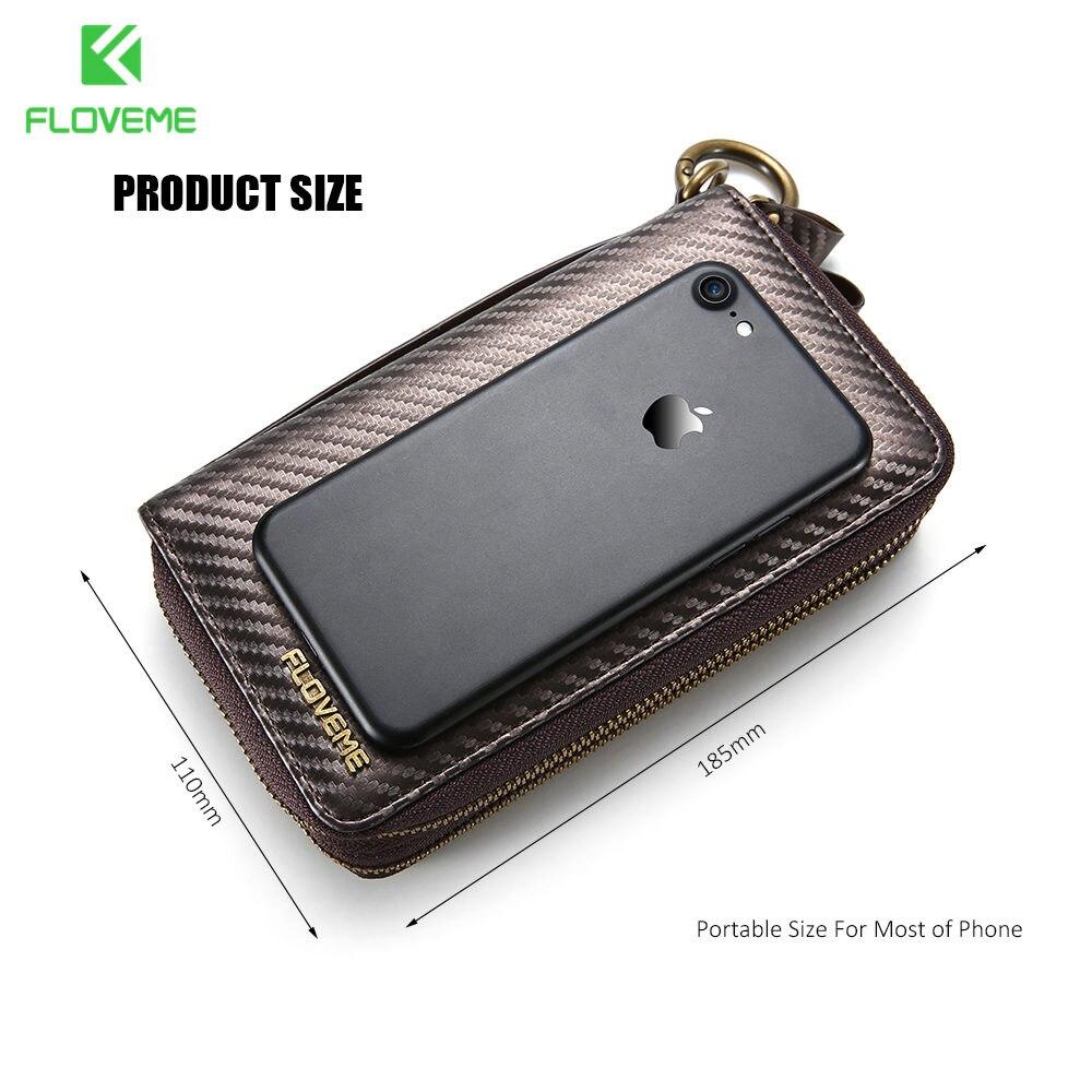 imágenes para FLOVEME Universal Funda Cartera de Cuero Para el iphone 6 6 S 7 Más 5 5S SO Para Samsung Galaxy S5 S6 S7 S8 s8 Plus Cubierta del Caso del Borde bolsa