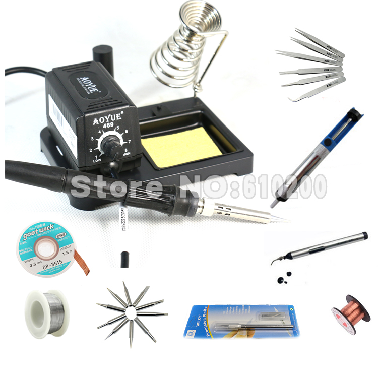 Aoyue 469 ESD Adjustable portable MINI Soldering Station/Electric soldering iron welding repair tools kit set 220V aoyue 469 esd adjustable portable mini soldering station electric soldering iron 220v 60w
