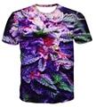Harajuku purple gas 3D t shirt galaxy weed hemp leaf print T-shirt camiseta summer style tee shirts tops plus size M-XXL