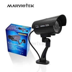 Наружная поддельная камера для домашней безопасности, видеокамера для видеонаблюдения, мини-камера видеонаблюдения videcam, мигающий светоди...