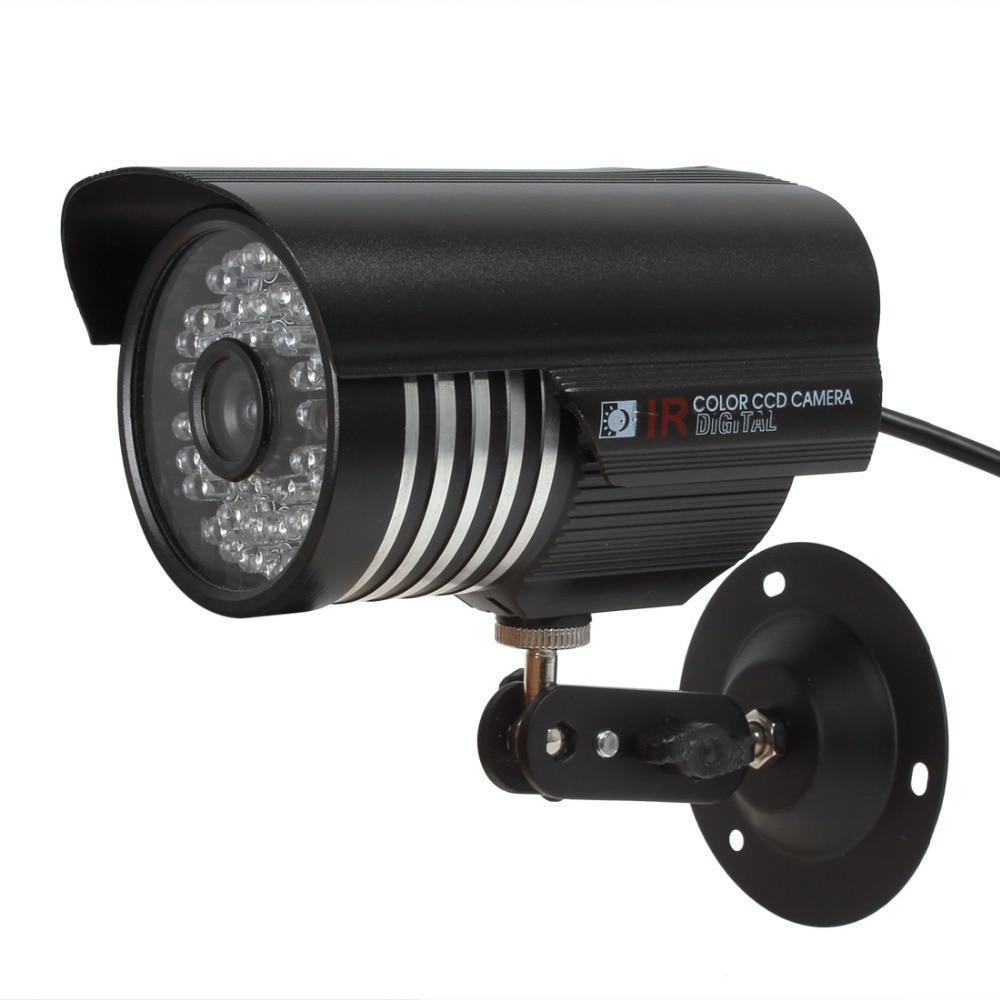 Hot CCTV Camera 1/4 CMOS 6mm Lens 1000TVL 36-LED NTSC / PAL IR-CUT Waterproof Bullet Security Camera zea afs011 600tvl hd cctv surveillance camera w 36 ir led white pal
