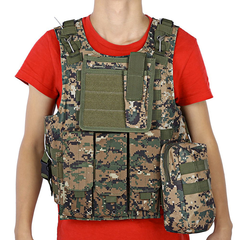 Camouflage Hunting Military Tactical Vest Wargame Body Molle Armor Hunting Life Vest CS Outdoor Jungle Equipment with 5 Colors
