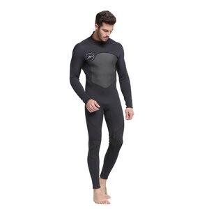 Image 2 - Erkek 5mm siyah/gri Wetsuit tüplü dalış sörf Fullsuit tulum Wetsuits neopren dalış elbisesi erkekler 5 milimetre