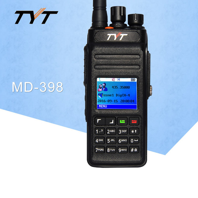 Applicable TYT MD398 Digital DMR Walkie Talkie Waterproof IP67 Two Way Radio High Power 10W Ham Radio Transceiver