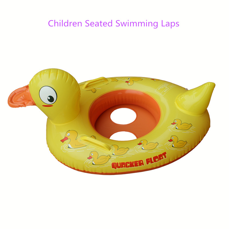 1-5 Years Old Children Seated Swimming Rings Duck's Model Seated Swimming Rings with Whistle Seated Swimming Laps Rings