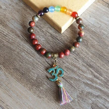 7 Chakra Buddha Yoga Tassel Bracelet