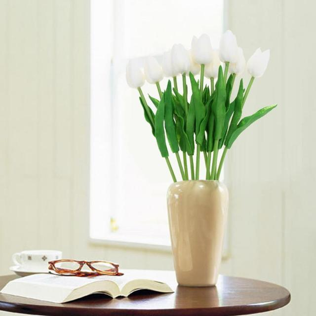 10 x Simulation PU Tulip Flowers Wedding Home Decoration Decorative Artificial Flowers Wedding Decor Dried Flowers