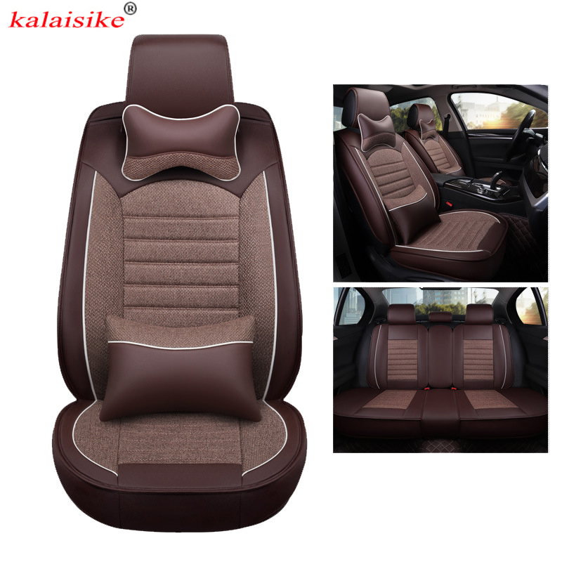2018 Infiniti Qx30 Interior: Kalaisike Leather Plus Flax Universal Car Seat Covers For