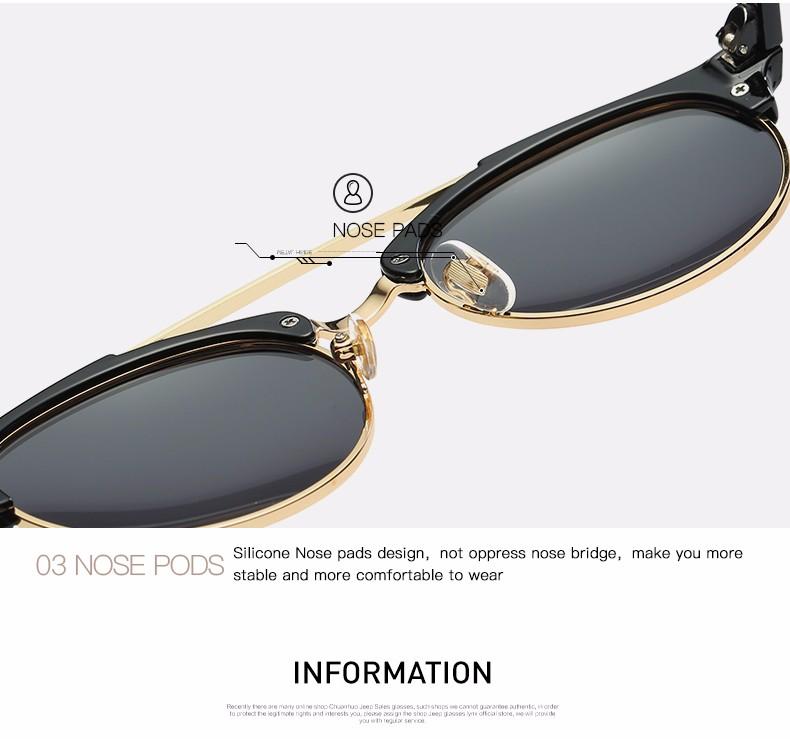 AEVOGUE Polarized Designer Unisex Steampunk Sun Glasses