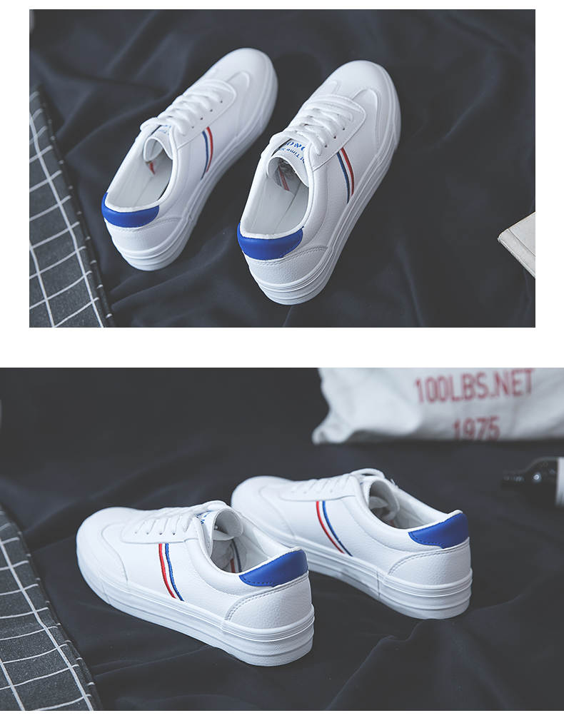 HOT Women Sneakers 2020 Fashion Breathble Vulcanized Shoes Women Pu leather Platform Shoes Women Lace up Casual Shoes White